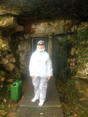 Acceso a la cueva original de Altamira